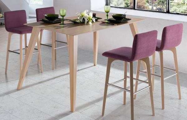 Conjunto mesa alta + taburetes Okna