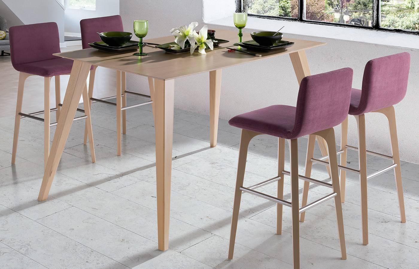 Conjunto mesa alta taburetes okna dismobel - Mesa alta con taburetes ...