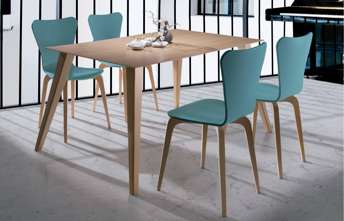 Conjunto mesa sillas okna dismobel for Mesas y sillas de comedor modernas y baratas