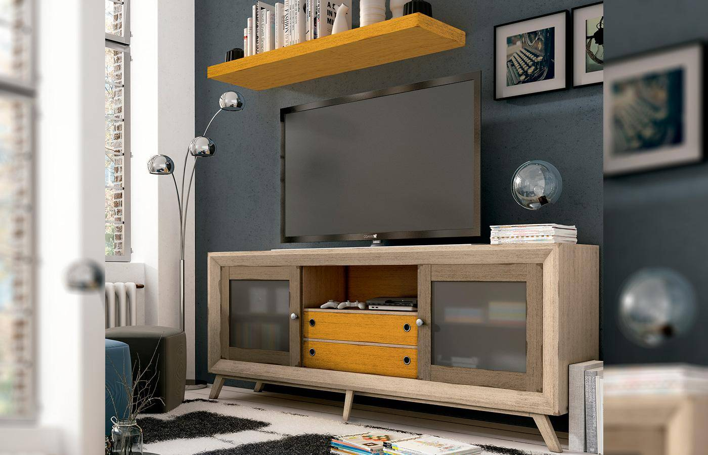 Mueble tv selon dismobel for Mueble tv multimedia