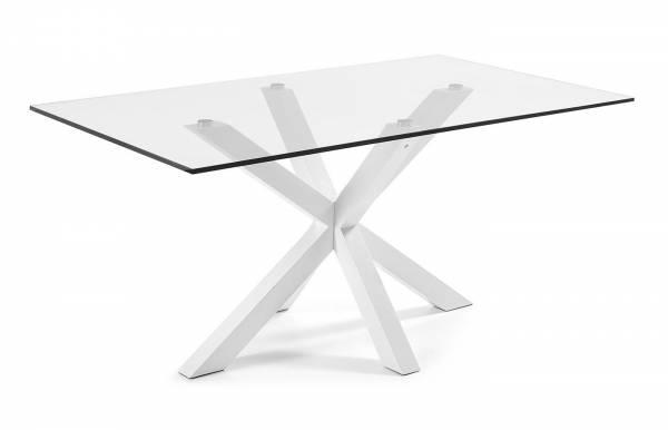 Mesa de comedor Plinto Blanco-Transparente 160