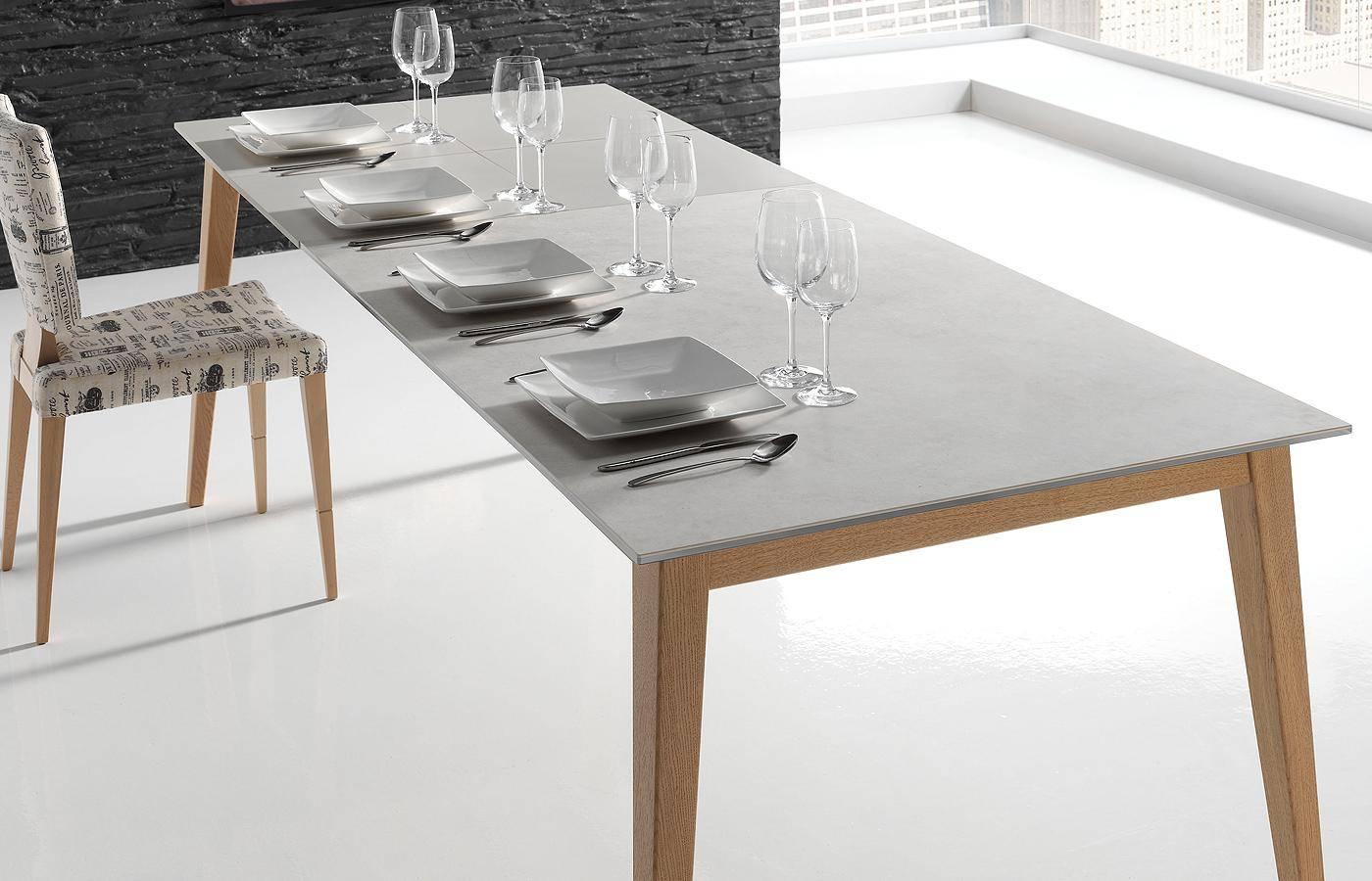 Mesa de comedor oko porcel nico dismobel for Mesas de comedor cuadradas grandes