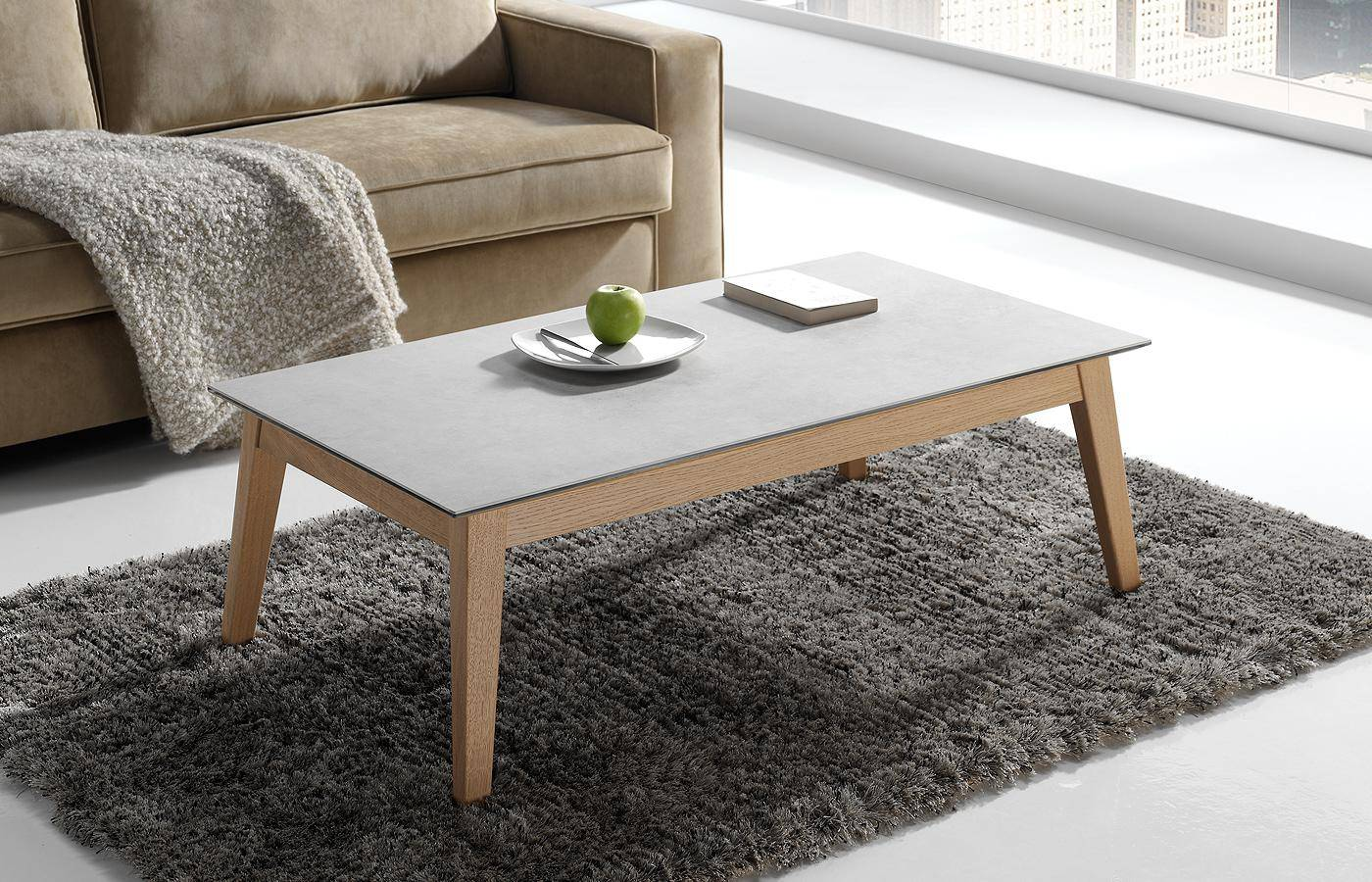 Mesa de centro elevable oko porcel nico dismobel for Mesas puestas con estilo