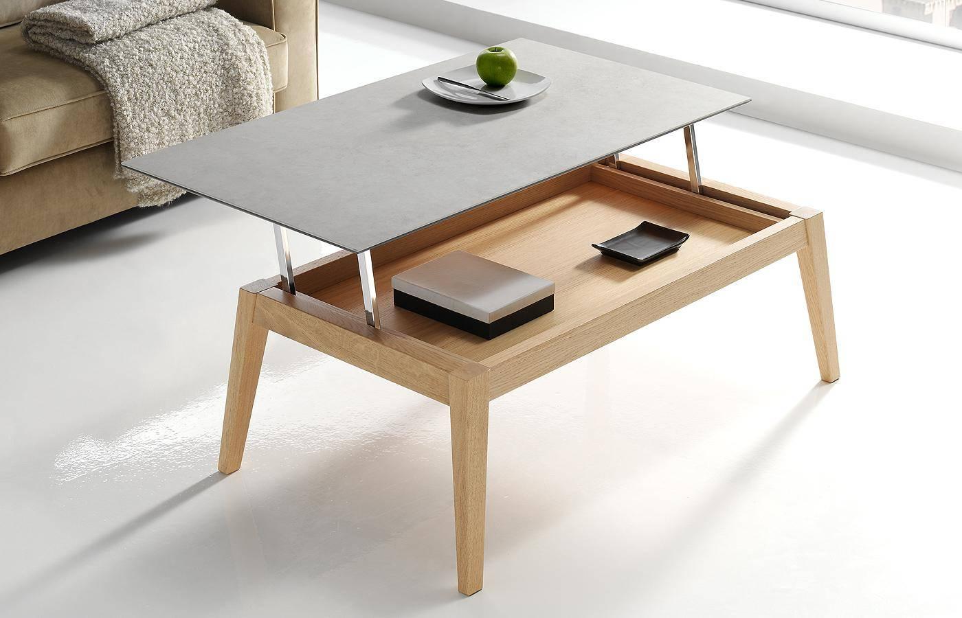 Mesa de centro elevable oko porcel nico dismobel - Mesa centro elevable y extensible ...