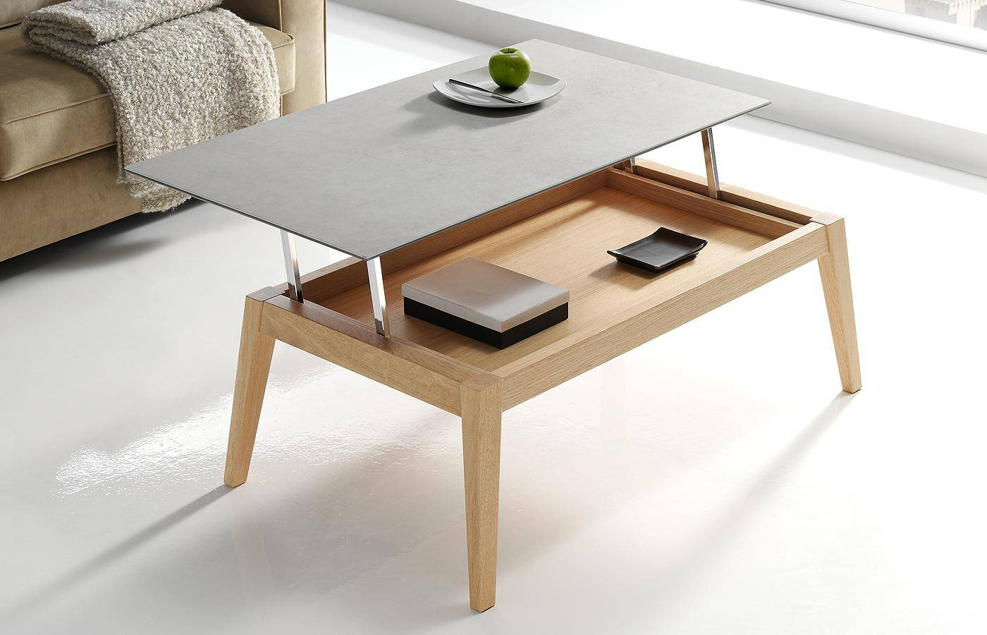 Mesa de centro elevable oko porcel nico dismobel - Mesas de centro elevables merkamueble ...