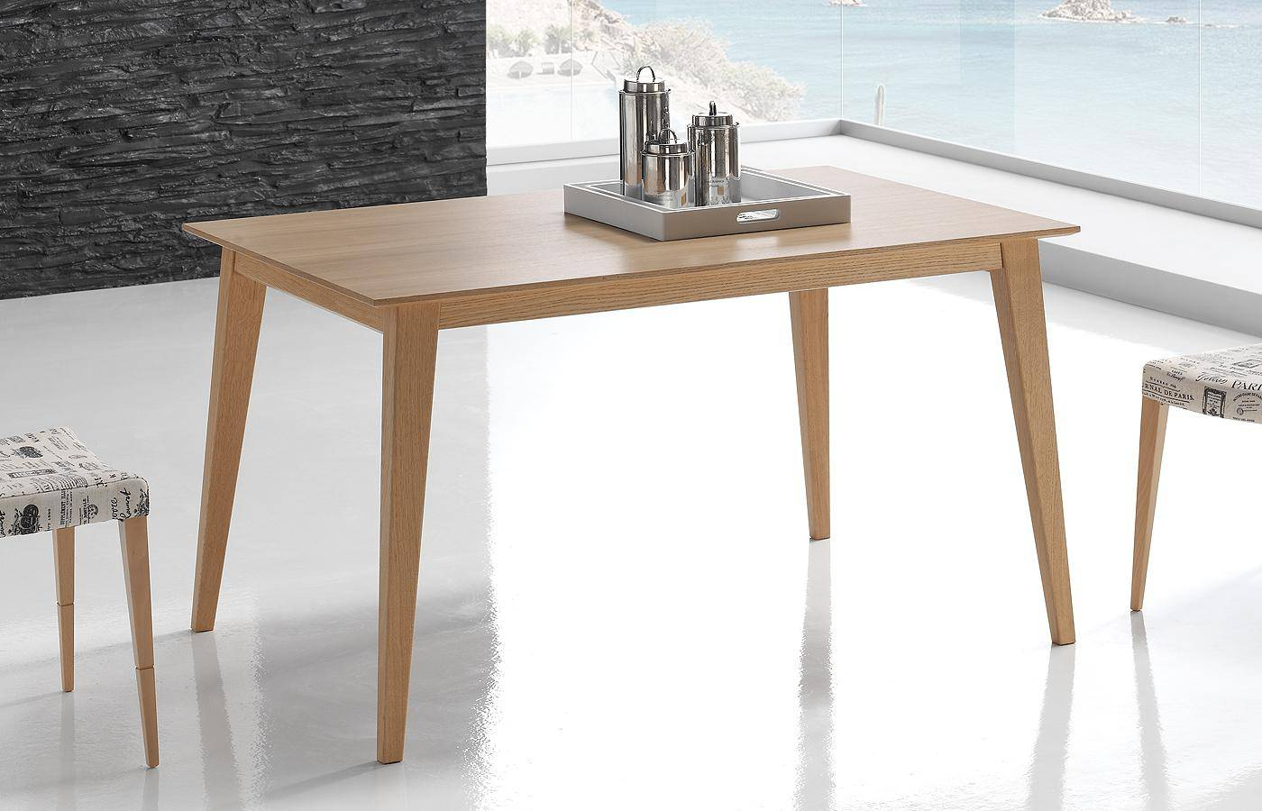 Mesa de comedor oko madera dismobel for Mesa comedor madera