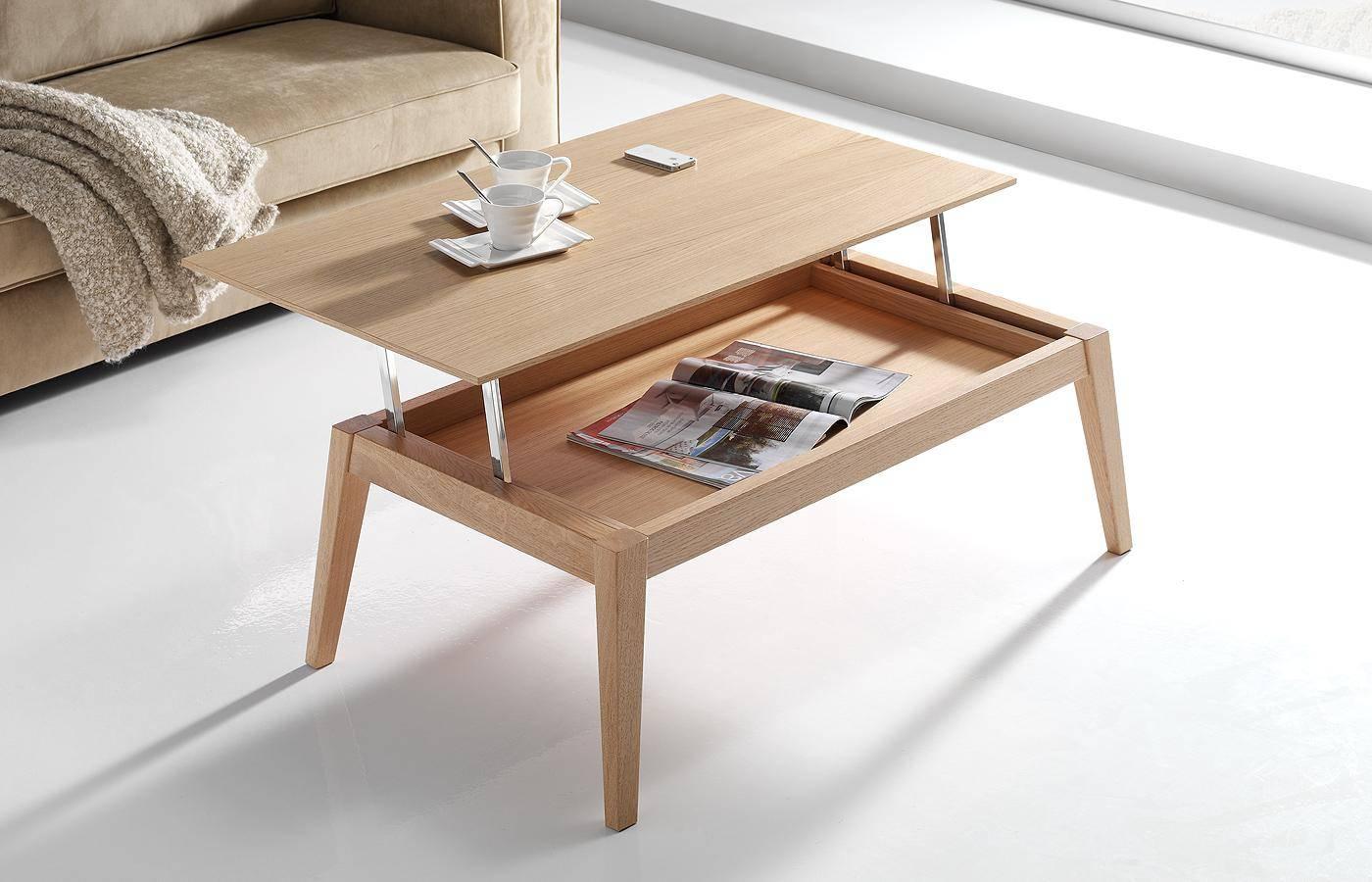 Mesa de centro elevable oko madera dismobel - Mesa de centro de madera ...