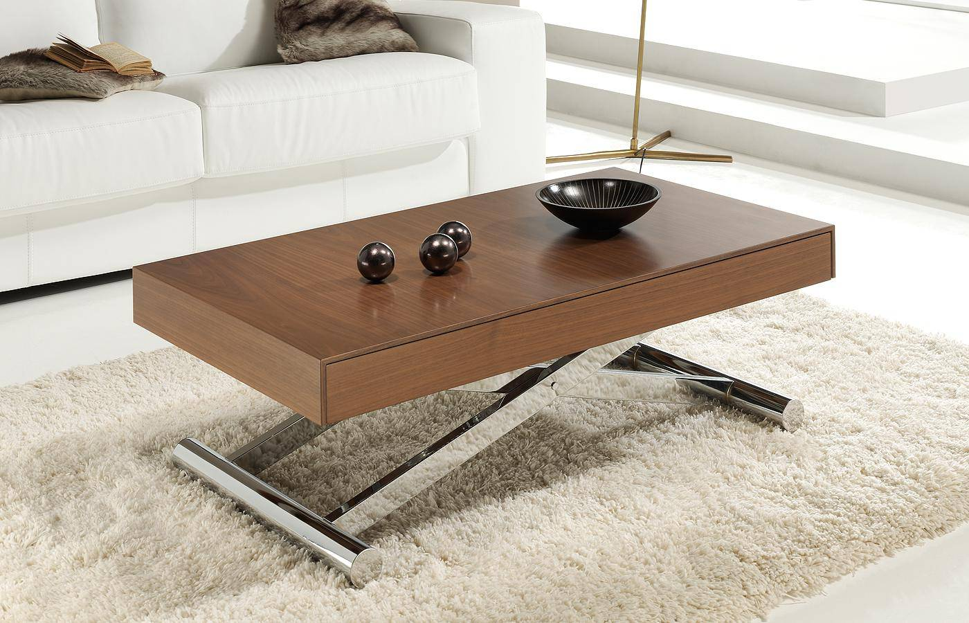 Mesa de centro transformable melisa ii dismobel - Mesa de salon elevable ...
