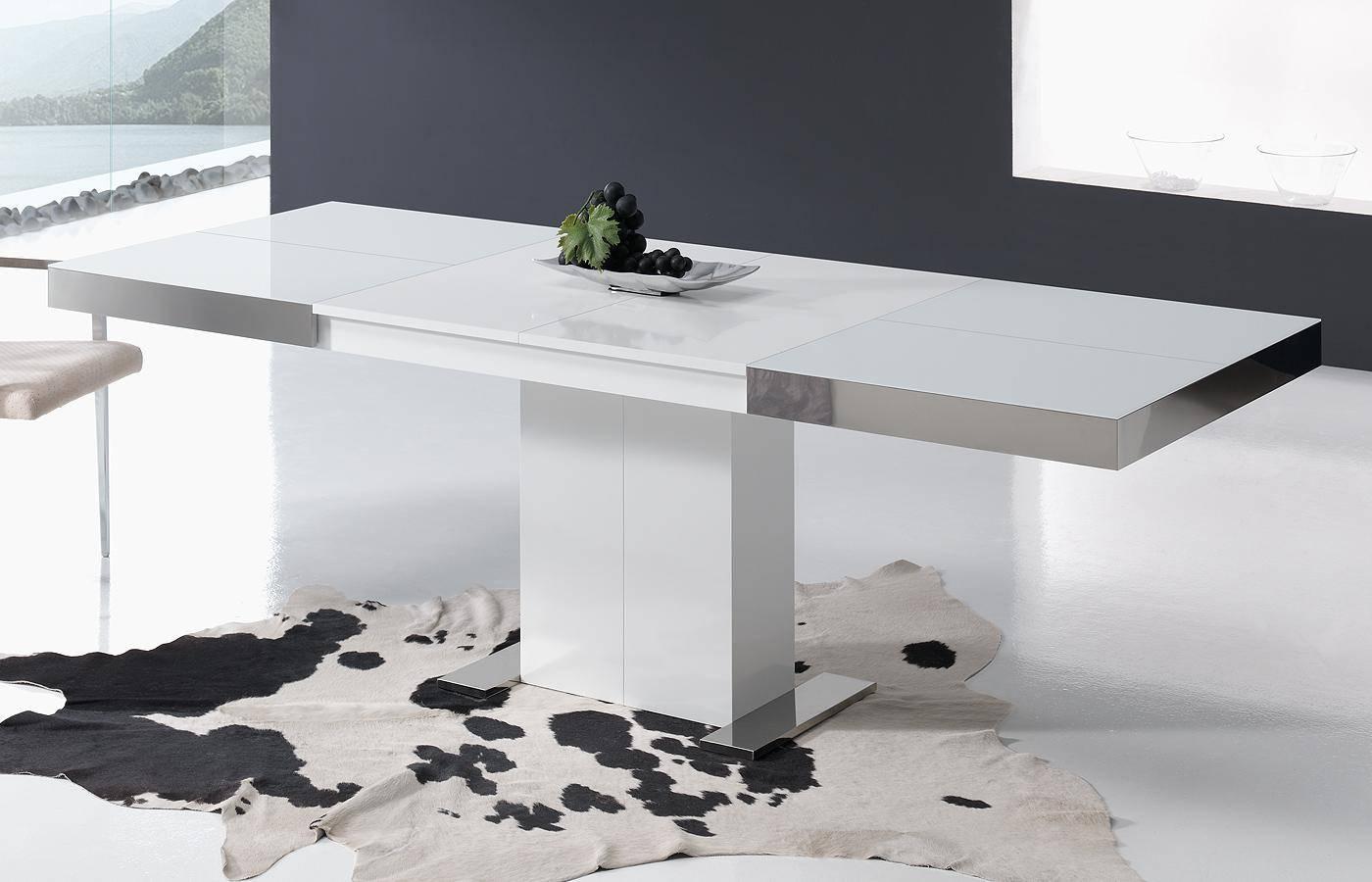 Mesa de comedor kaly cristal dismobel for Mesas de comedor rectangulares