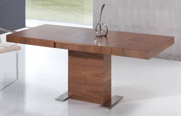 Mesa de comedor kaly madera dismobel for Mesas cuadradas de madera