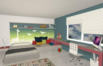 Proyecto 3D de amueblamiento o decoración