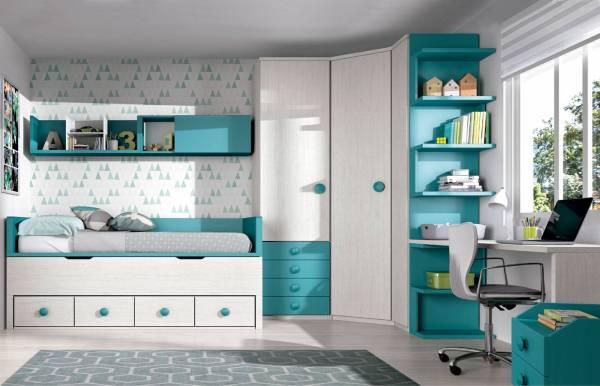 Habitación infantil juvenil con compacto Nori
