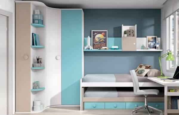 Habitación infantil juvenil con compacto Orión