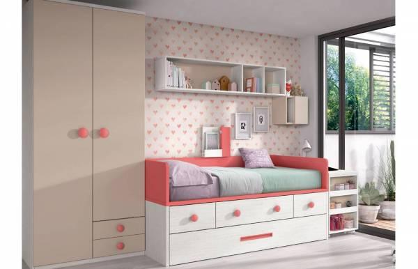 Habitación infantil juvenil con compacto Loria
