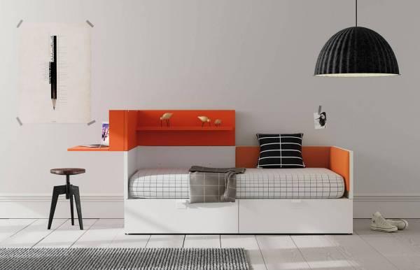 Habitación infantil juvenil con cama cubo Nest 1