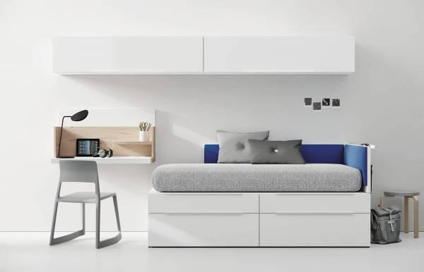 Habitación infantil juvenil con cama cubo Nest 2