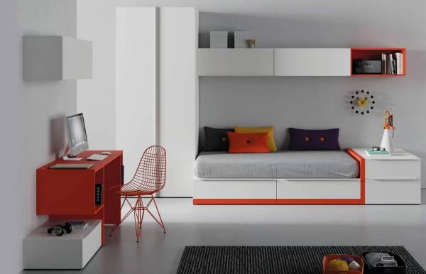 Habitación infantil juvenil con cama cubo Kube 4