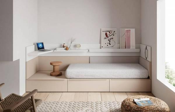 Habitación infantil juvenil con cama cubo Nest 3