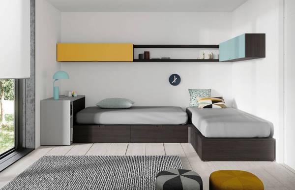 Habitación infantil juvenil con cama cubo Kube 5