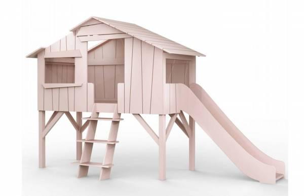 Cama casita sencilla con tobogán de Mathy by Bols