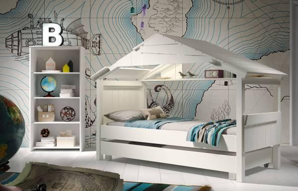 Cama casita con nido blanca de Mathy by Bols