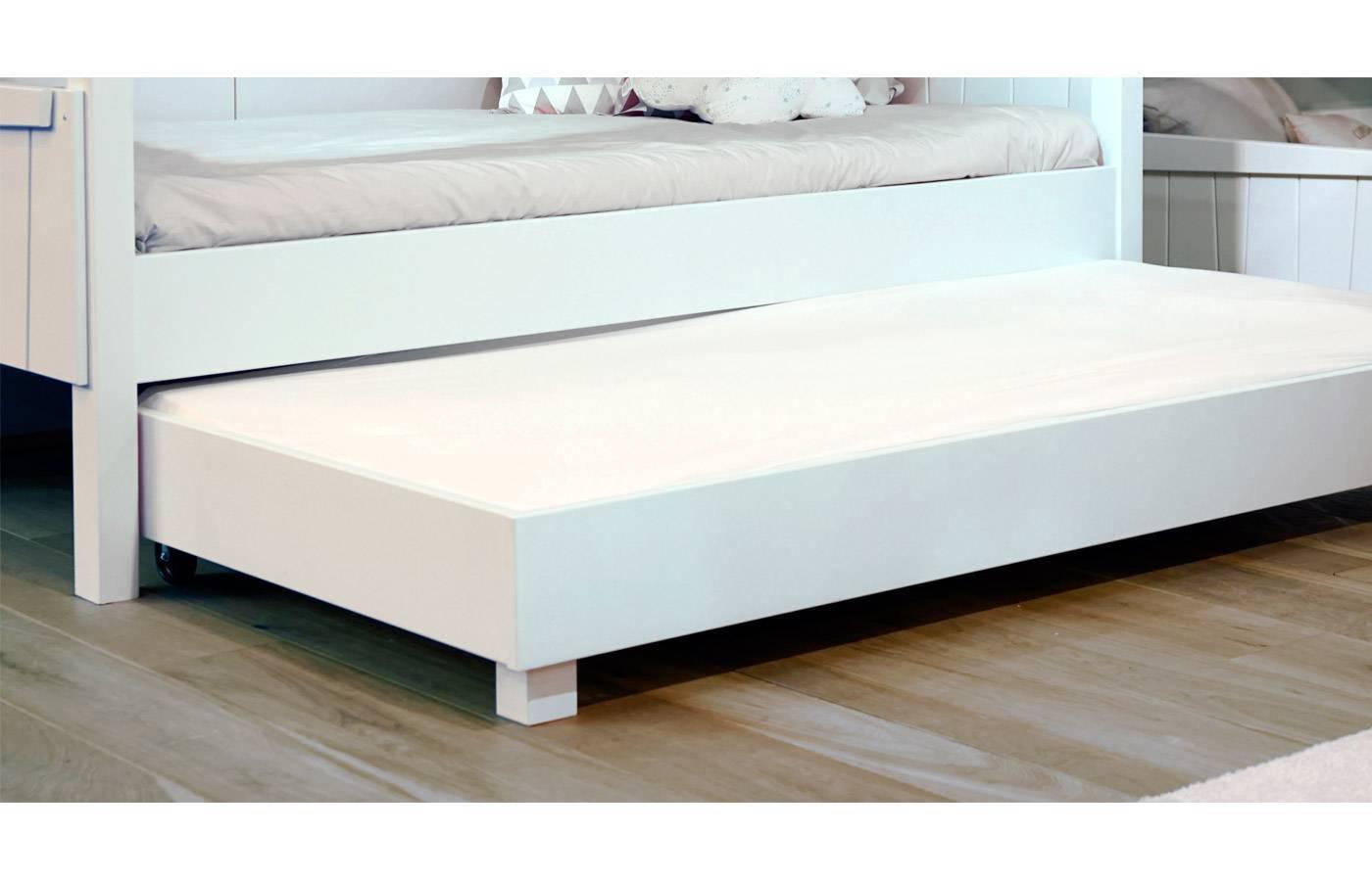 Cama casita con nido blanca de mathy by bols dismobel for Cama nido blanca online