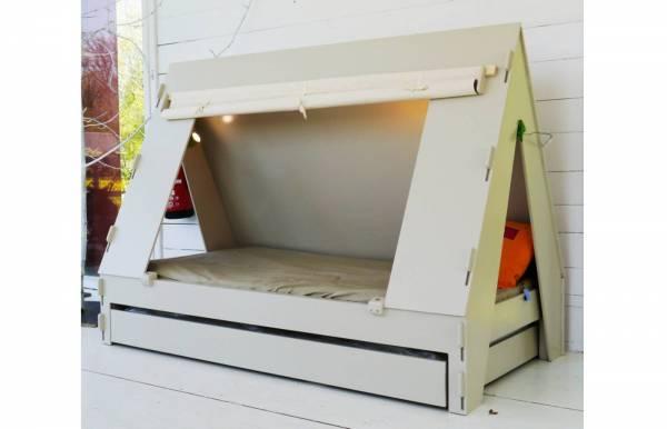 Cama tienda con nido blanca de Mathy by Bols