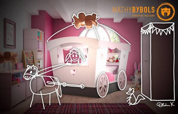 Cama carroza de Mathy by Bols