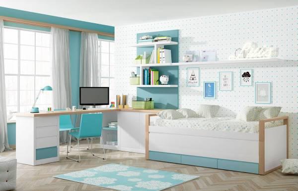 Habitación infantil juvenil con bicama Kids 13