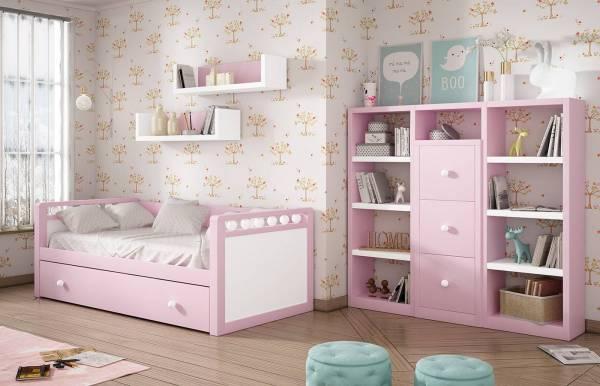 Habitación infantil juvenil con nido Kids 25