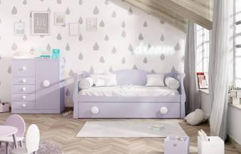 Habitación infantil juvenil con nido Kids 33