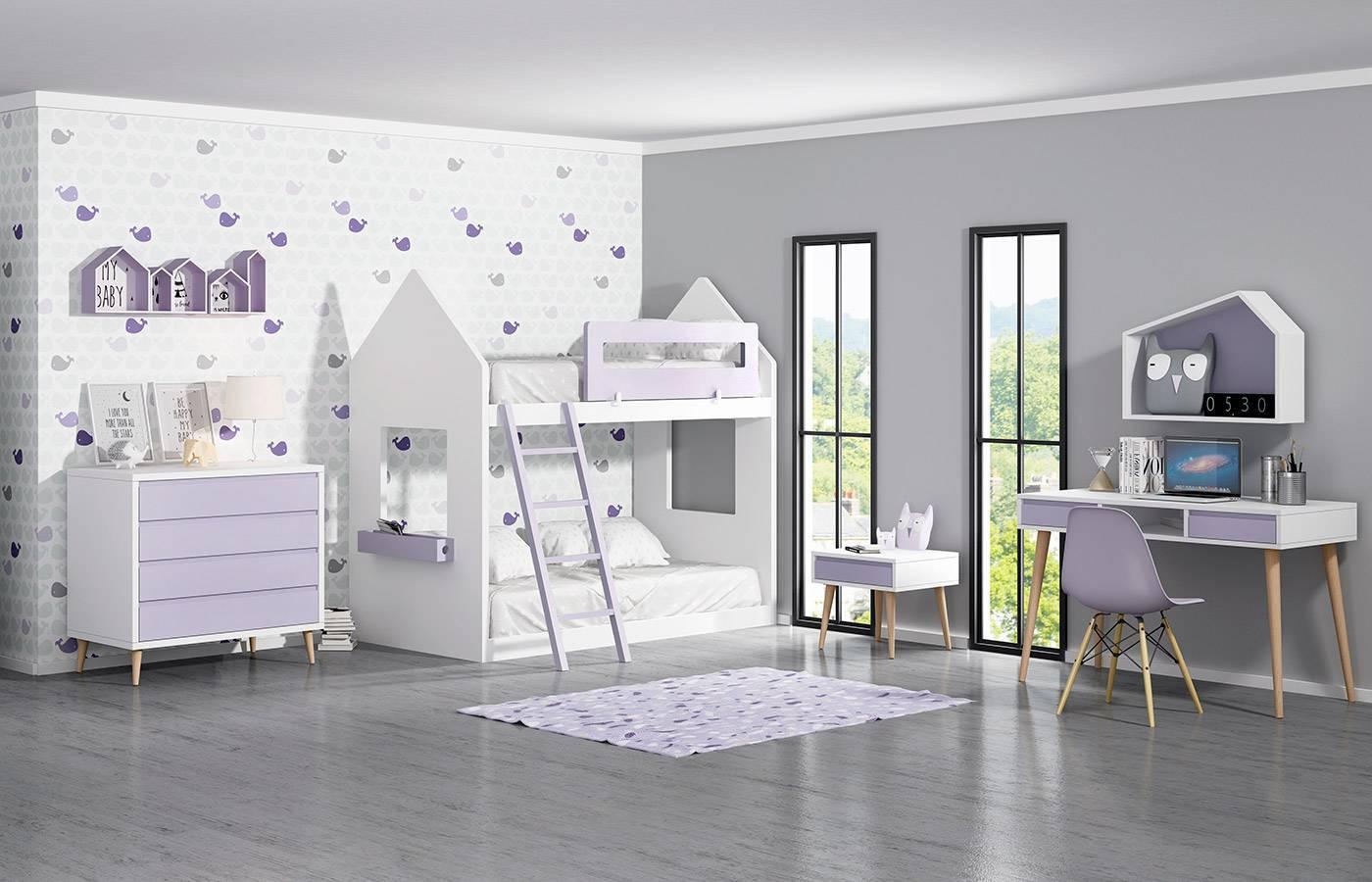 Habitaci n infantil con litera kids 05 dismobel - Habitacion con litera ...