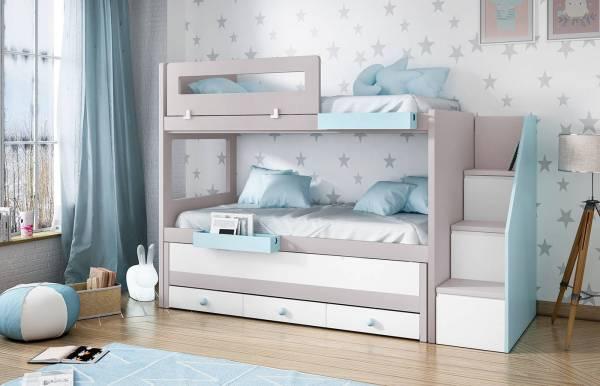 Habitación infantil con litera Kids 48