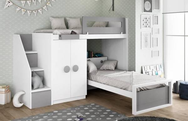 Habitación infantil con cama tren Kids 43