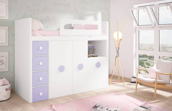 Habitación infantil con cama tren  Kids 40