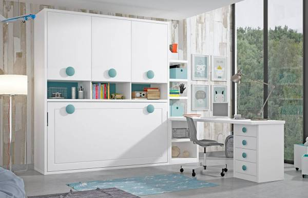 Habitación infantil con cama abatible horizontal Kids 53