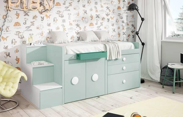 Habitación infantil juvenil con cama block Kids 34