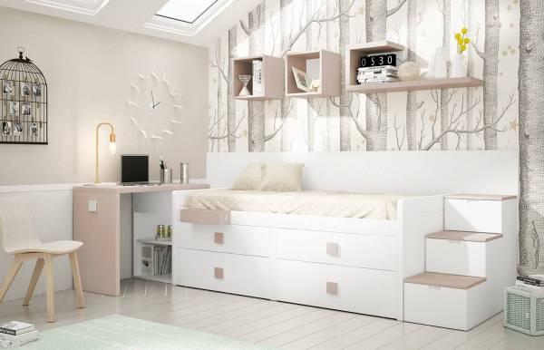 Habitación infantil juvenil con cama block Kids 35