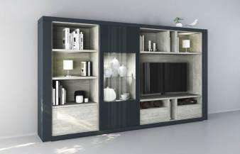 Mueble de salón Claudia Azul M