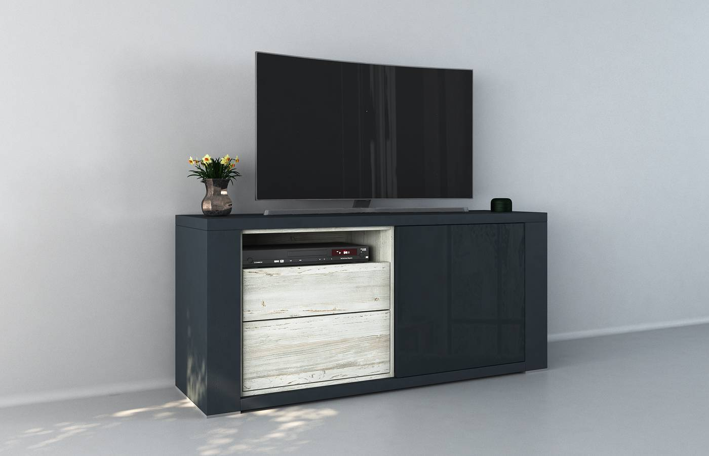 Mueble TV Claudia Azul M1
