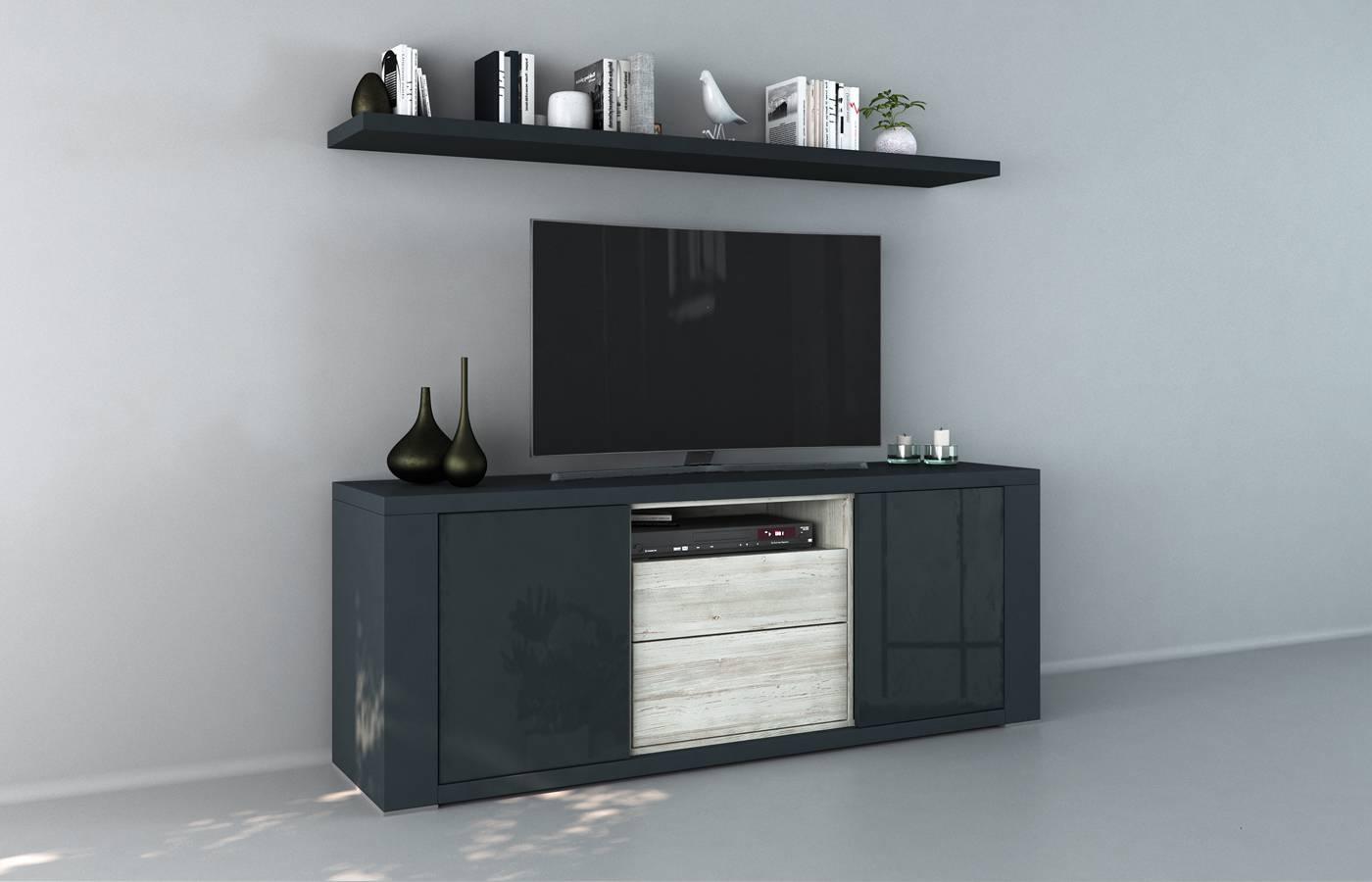 Mueble TV Claudia Azul xl1