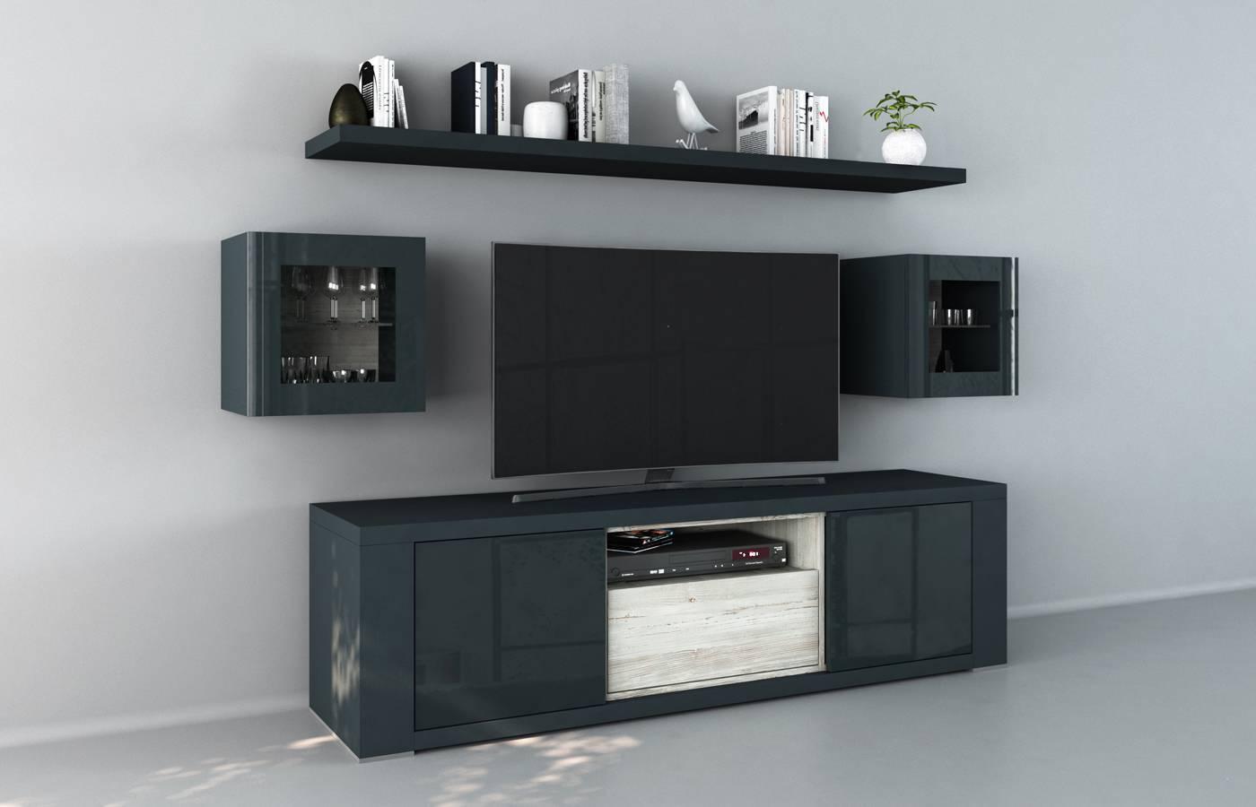 Mueble TV Claudia Azul xl2