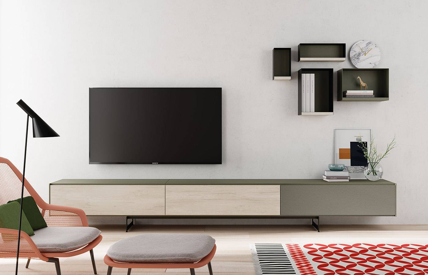 Composición de salón mueble TV AddLiving 6667 de Lagrama