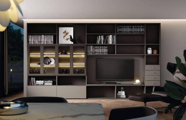 Composición de salón, estanterías, mueble TV AddLiving AddBox 3637 de Lagrama