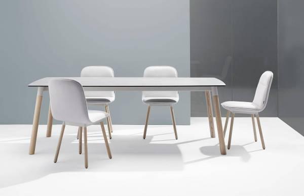 Mesa de comedor extensible madera Köln de Moblibérica