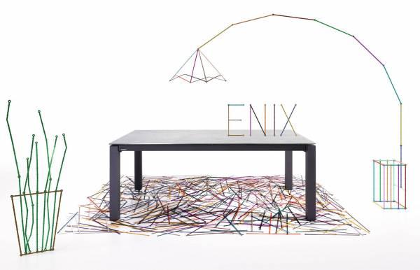 Mesa de comedor extensible metálica Enix de Moblibérica