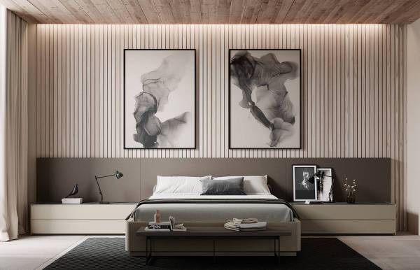 Dormitorio Lagrama con Cabecero + Laterales Lisos
