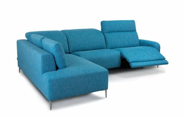 Sofá relax con chaiselongue Lugano de Navarro