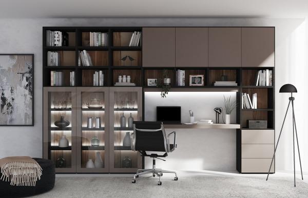Librería-escritorio Qubic 16 de Piñero y Cabrero