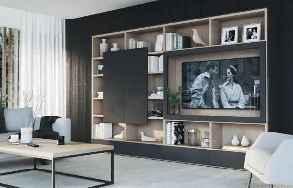 Librería TV Qubic 2.0 modelo 20 de Piñero y...